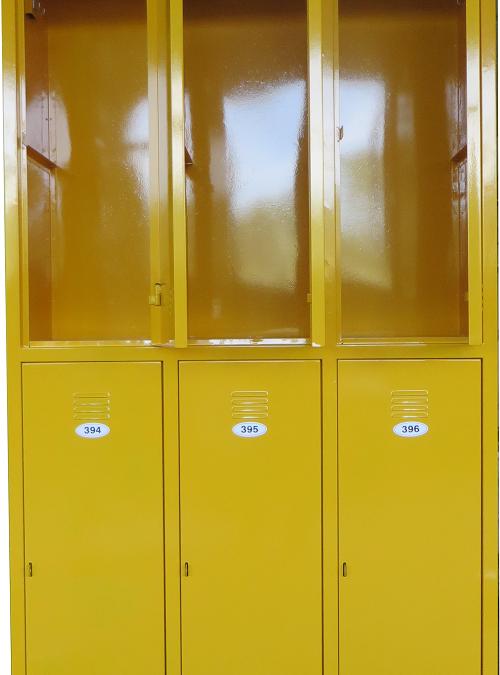 Метален училищен шкаф