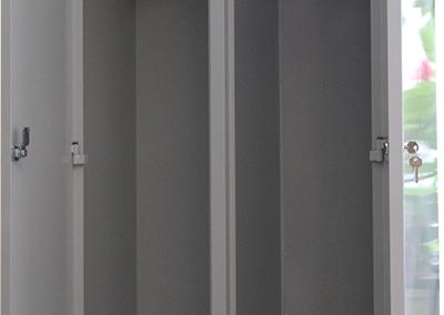 Метален шкаф за дрехи (двоен)-2