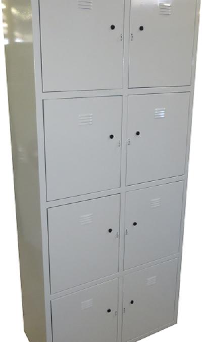Метален шкаф с отделения