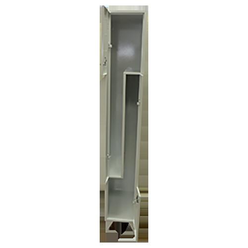 Метален шкаф за дрехи (двоен) L-форма