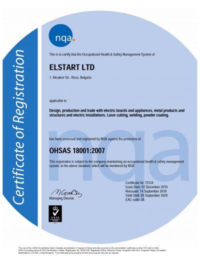 NQA Certificate OHSAS 18001_EN_ELSTART LTD